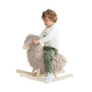 Labebe Grey Lamb Sheep Rocking Horse Plush Animal