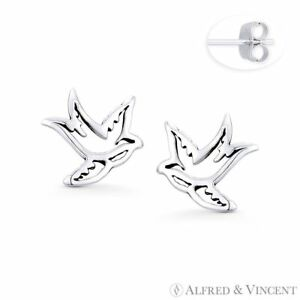 Love Birds Earrings SOLID STERLING SILVER