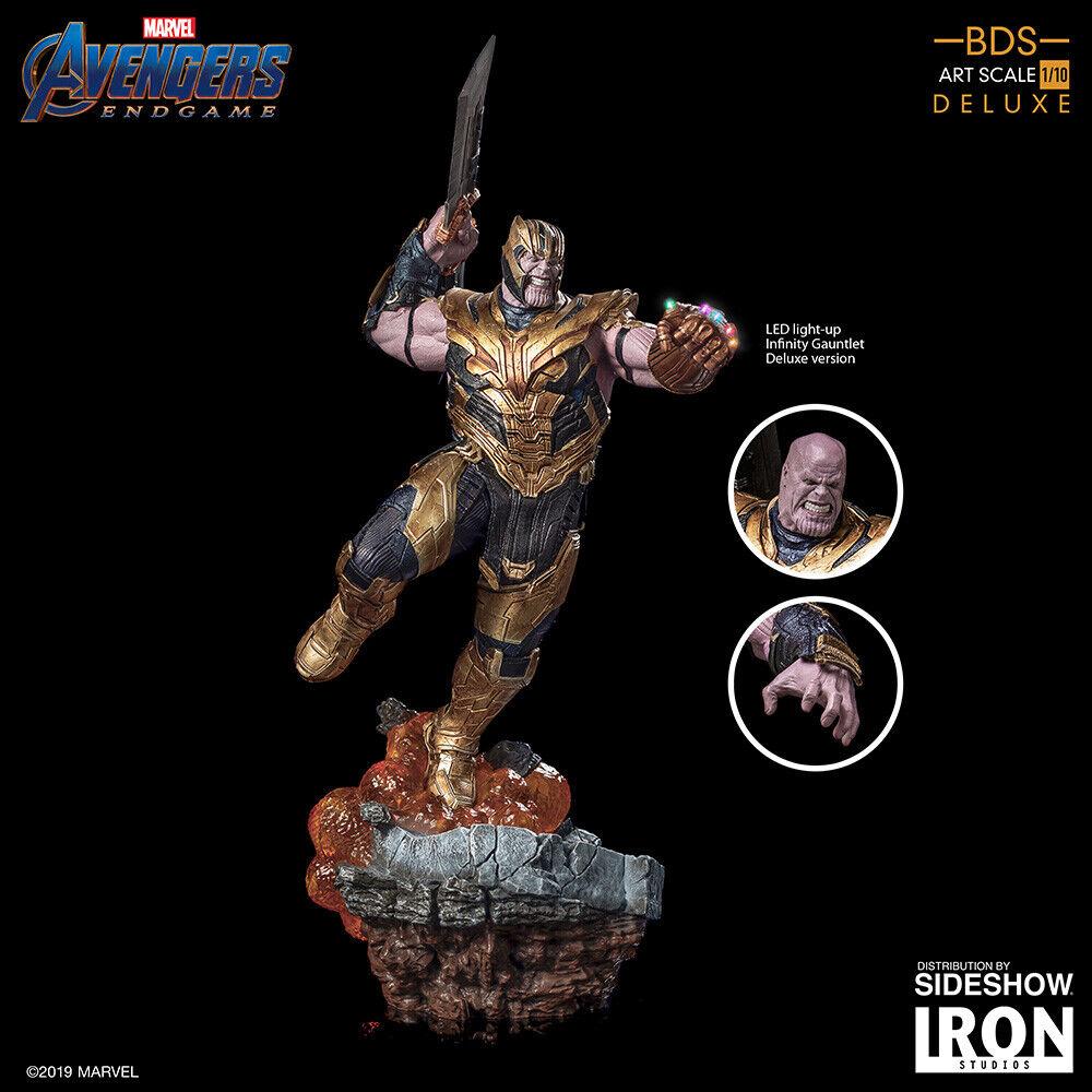 Thanos Deluxe Luz-Up Estatua Vengadores  juego final Hierro Studios bds 1 10 _ (US)  nuevo