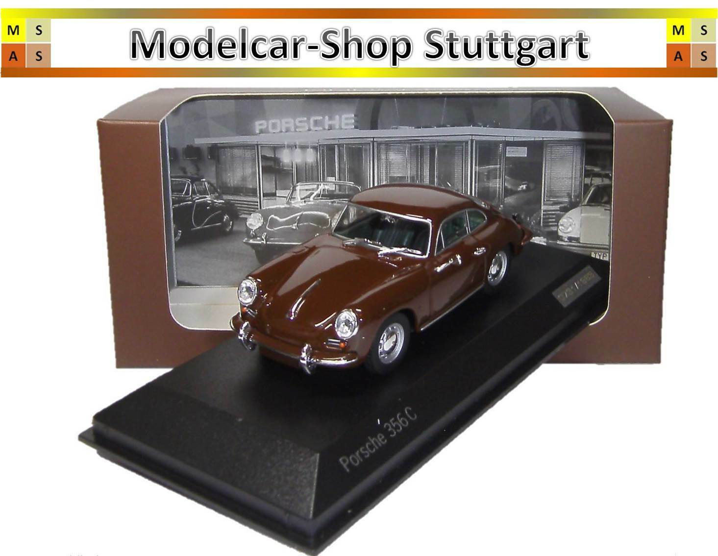 PORSCHE 356 C (1963) marróne Togo Minichamps 1 43 Ltd. Edition wap0203560h NUOVO