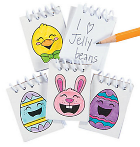 Pack-of-12-Colour-Your-Own-Easter-Mini-Notebooks-Egg-Hunt-Party-Bag-Fillers