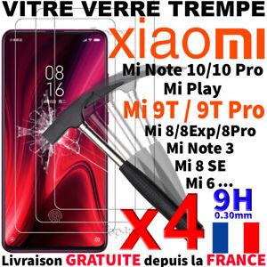 Protection-Ecran-Pour-XIAOMI-MI-NOTE-10-Pro-MI-9T-9-Lite-CC9e-Vitre-Verre-Trempe