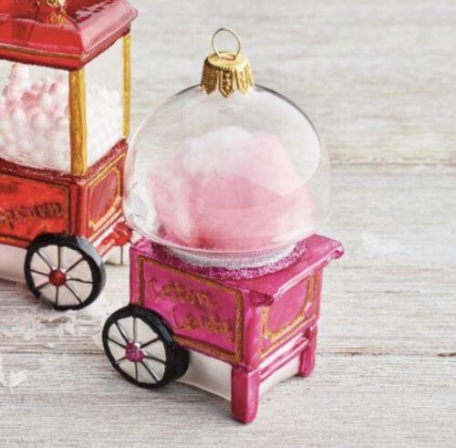 Glass Sur La Table Pink Cotton Candy Food Ornament Radko Girls Birthday Bling