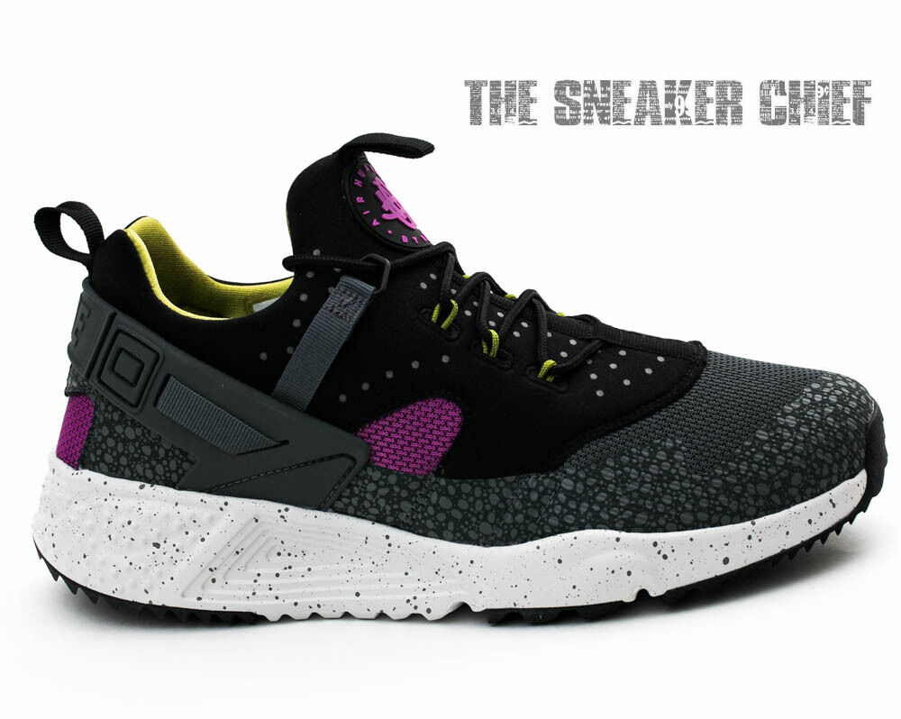7e746b98e2088 NIKE AIR HUARACHE UTILITY UTILITY UTILITY MENS COMFORT RUNNING SHOES BERRY  GREY BLACK 806979 500 0ab267