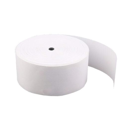 Tenda intestazione nastro 50 METRI Bianco Tinta Unita intestazione larghezza 10cm Nastro Resistente Per Tende