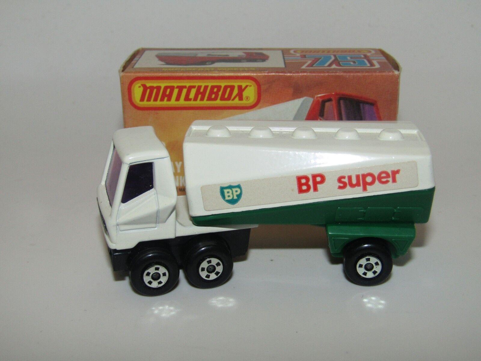 MATCHBOX SUPERFAST nº 63 FREEWAY GAS TANKER 5 jantes BP SUPER En parfait état, dans sa boîte RARE
