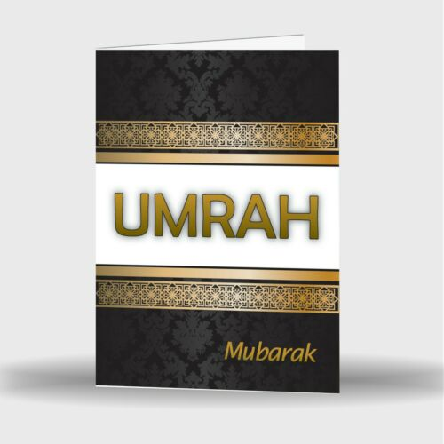 Simple Ou Pack De 4 Umra Moubarak mubrook Célébration Carte de vœux S-31