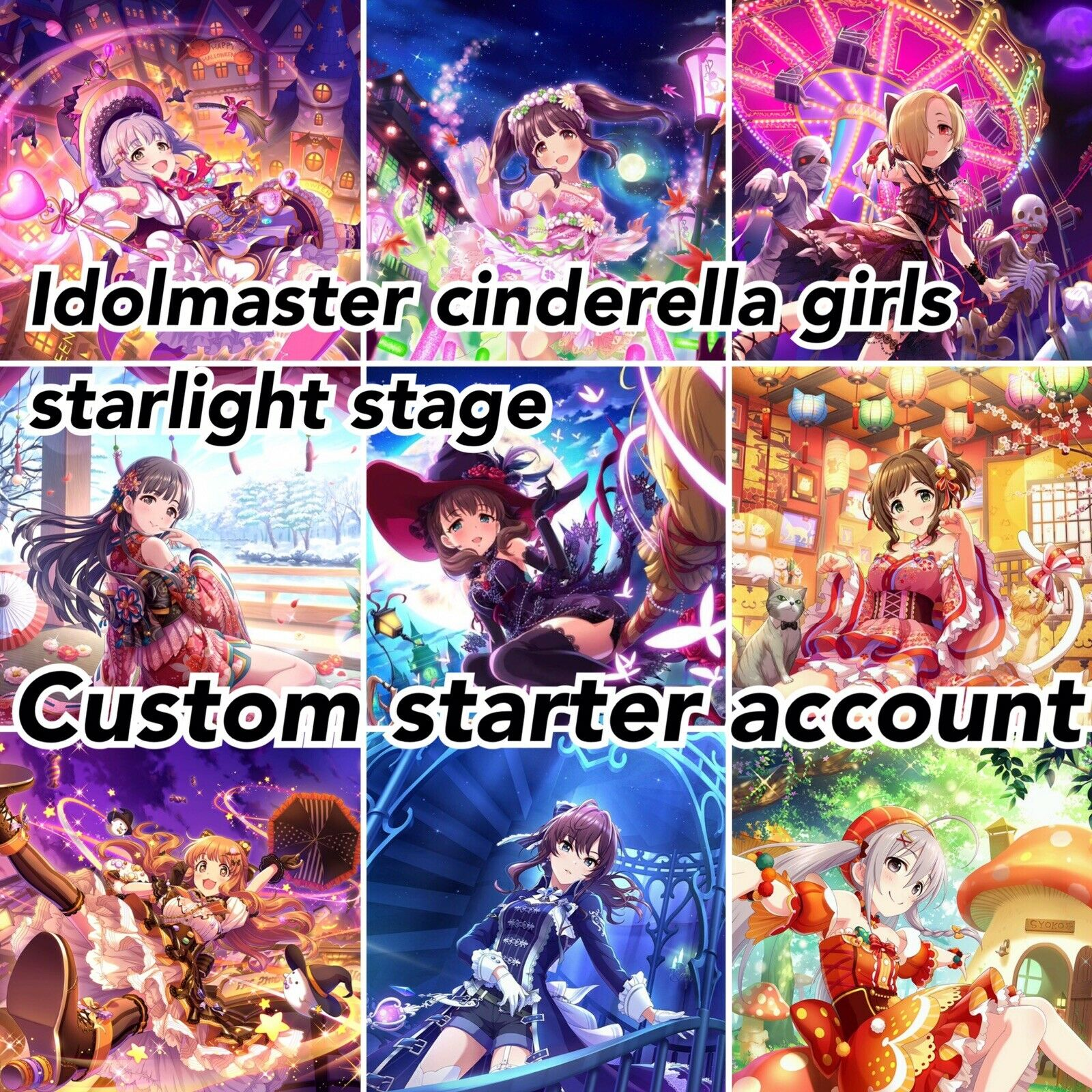 iDOLM@STER//idolmaster Cinderella Girls Starlight Stage CUSTOM starter account