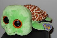 "TY BEANIE BOO'S Plush Stuffed Animals Medium 10"" Long 36026 SANDY THE TURTLE SEA Toys"