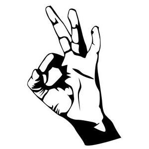 hand doing ok sign car decal sticker ebay