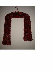"TULIP  Snuggly Soft Acrylic Long  SCARF  Handwoven  12/"" x 75/""  REDS /& BROWNS"