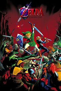 Details about The Legend of Zelda Ocarina of Time Poster |4 Sizes| 3  Nintendo 64 Gamecube wii