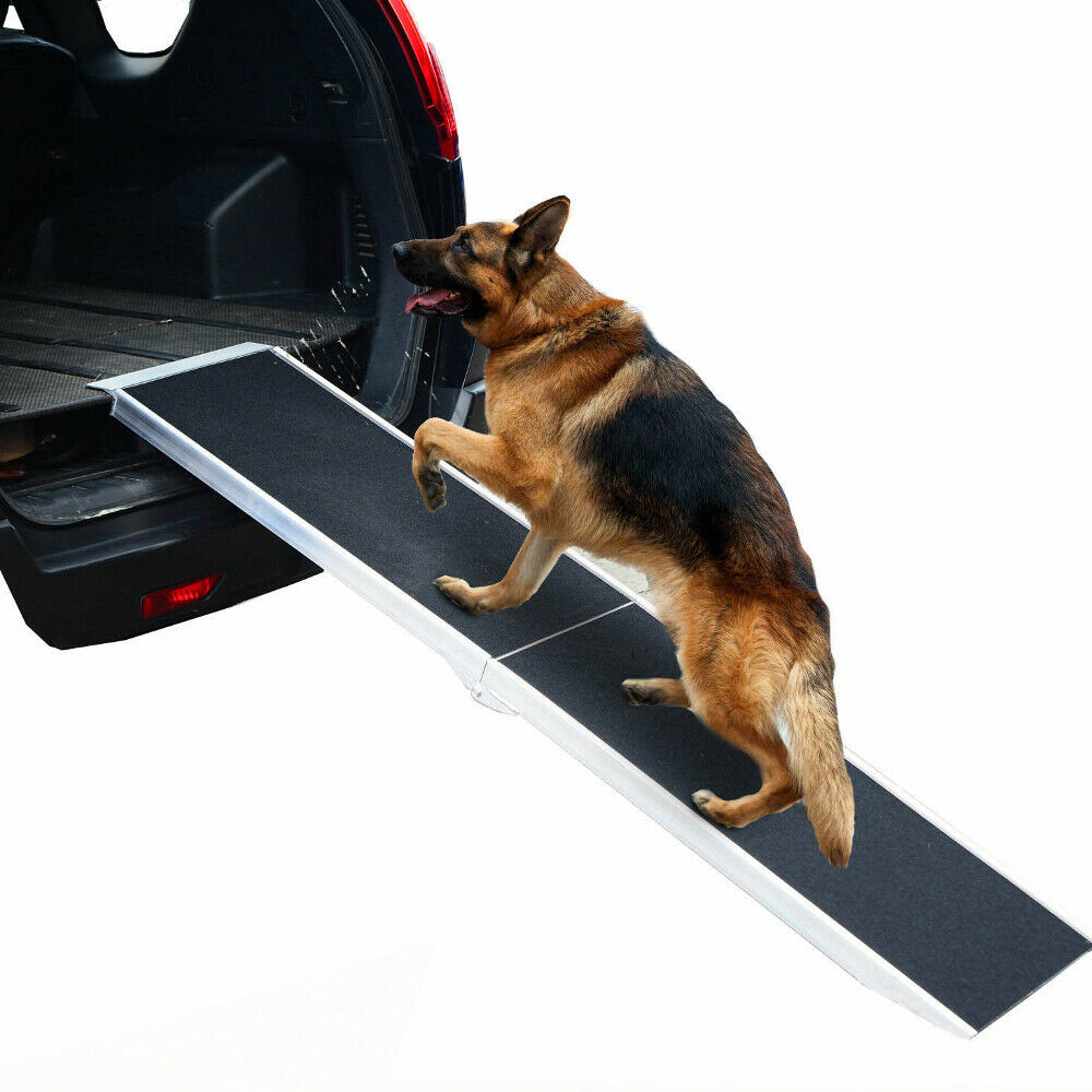 NEW DOG RAMP ANTI SLIP SAFETY FOLDING PORTABLE PET  CAR ASSIST  BIKE WHEELCHAIR