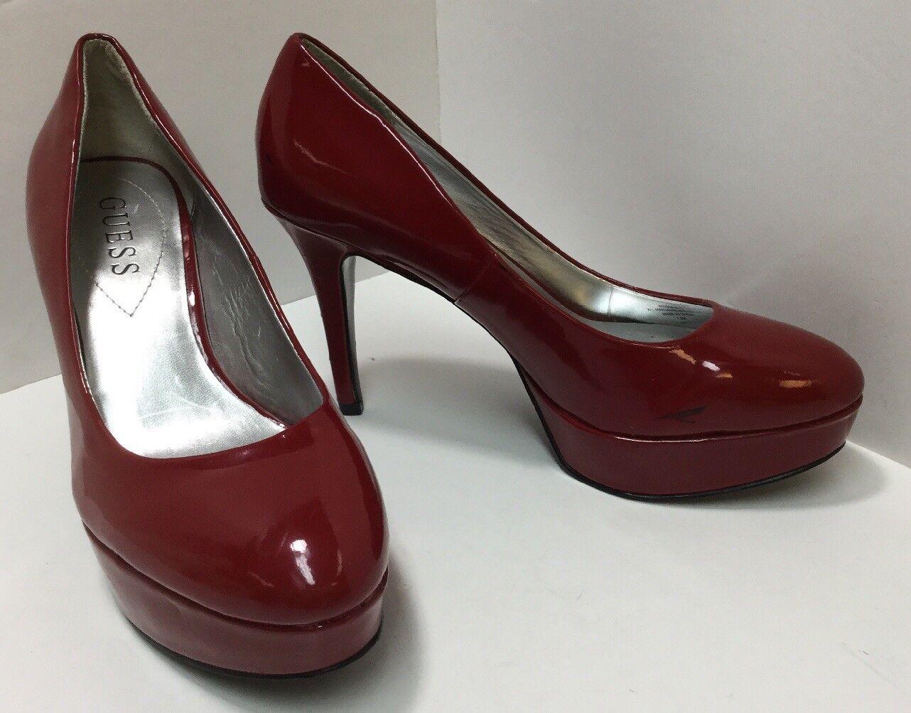 STEVE High MADDEN Women's Platform Pumps High STEVE Heels Cherry Red Shiny - Size 7.5 4a0ae8
