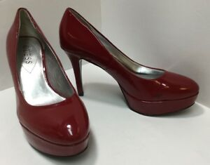64ff0ebc4cb STEVE MADDEN Women s Platform Pumps High Heels Cherry Red Shiny ...