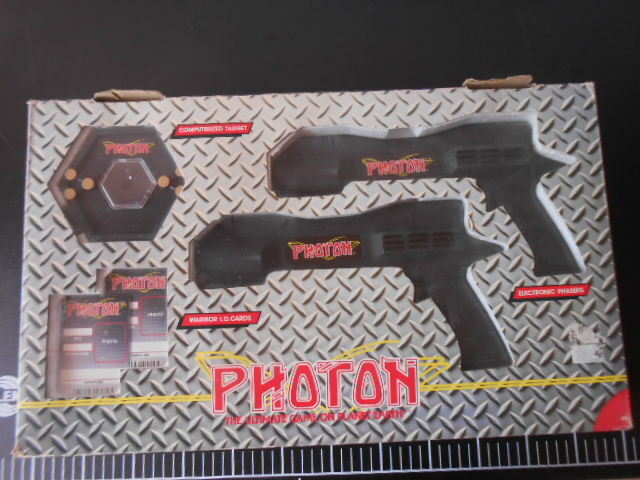 LJN PHOTON ELECTRONIC Double Phaser Target Game VINTAGE Laser Space Entertech