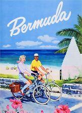 United States Caribbean Bermuda America Travel Advertisement Art Poster