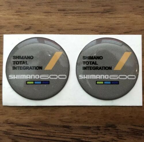 Resin Dome Sticker Shimano 600 6400 STI 8 Speed Shifter Faceplate Logo Decal Cap