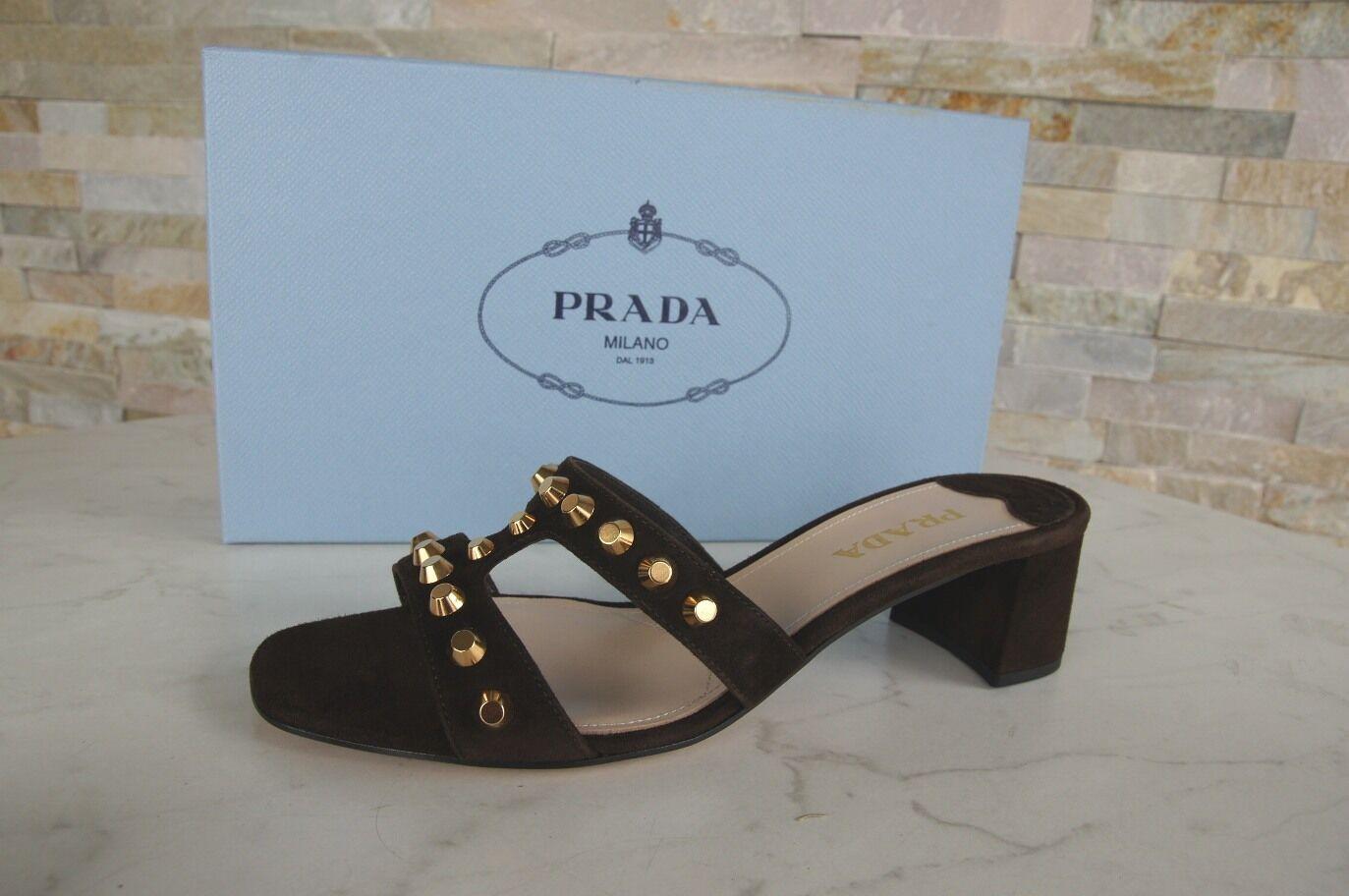 Prada sandalias sandalias sandalias, zapatos Teak marrón nuevo PVP