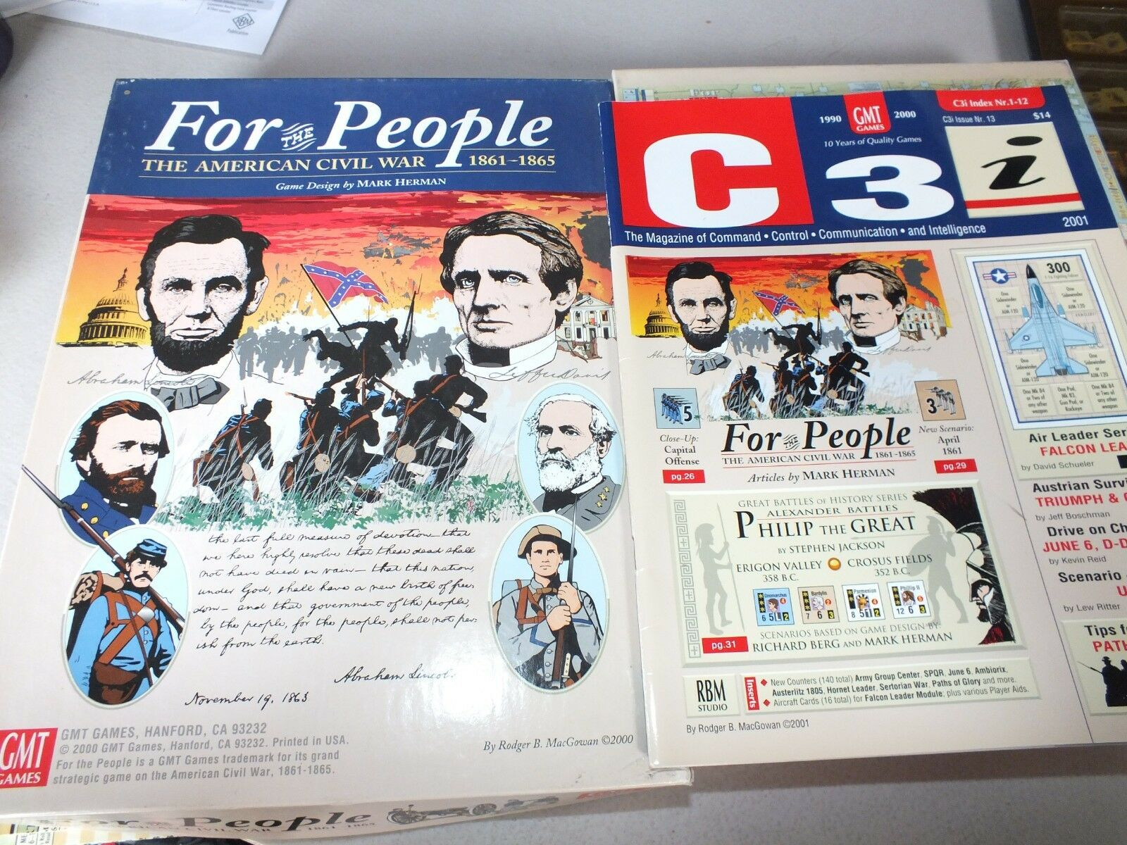 For the People The American Civil War 1861-1865 Game and C3i Mag 13 GMT 0011 LOT