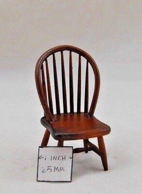 Windsor black walnut finish Chair dollhouse  1//12 scale miniature CLA07813