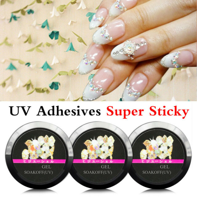 8ml Nail Art Glue Gel Super Adhesive For Rhinestone Foil Sticker Tips DIY NICE