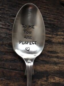 To-Me-You-Are-Perfect-Silver-Plated-Hand-Stamped-Antique-Spoon-Gift-Him-or-Her