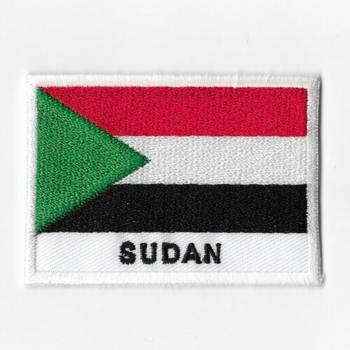 Sudan National Flag Iron on Patches Embroidered Applique Badge Emblem