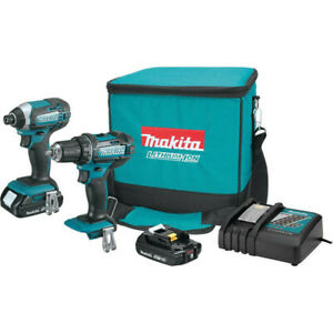 Makita-LXT-18V-2-0-Ah-Li-Ion-Impact-Diver-amp-1-2-in-Drill-Driver-CT225R-R-Recon