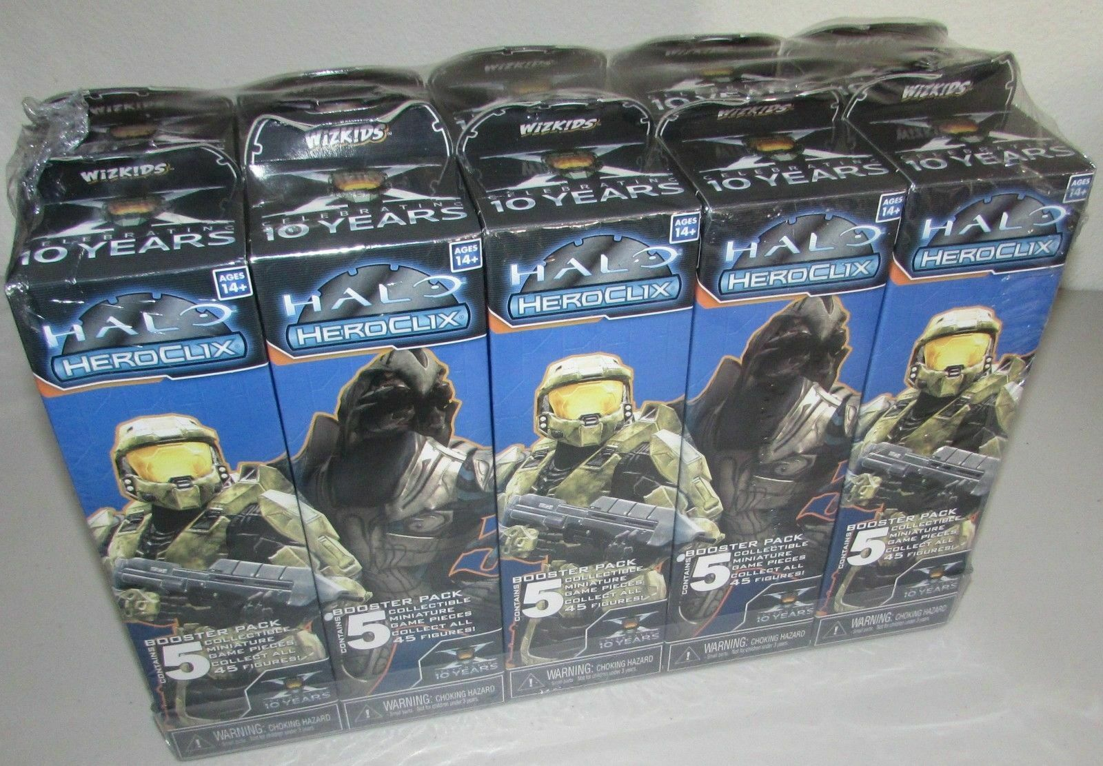 真新しい、まだ工場は10周年記念Halo Hococlixブリック無料船を密閉!