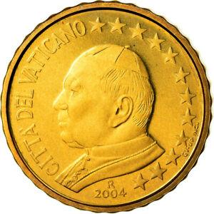 [#901592] Cité du Vatican, 10 Euro Cent, 2004, FDC, Laiton, KM:344