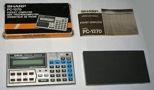 SHARP PC-1270 Pocket Computer GMAC Financial Pygmy PCS 64K RAM Card Box Manual