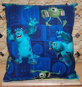 Monster-Inc-Pillow-Pixar-Pillow-HANDMADE-In-USA-Toddler-Travel-Daycare-NEW