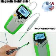 Digital Tesla Gauss Meter Magnetic Field Tester Magnetic Flux Meter Withhall Probe