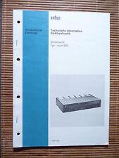 Service Manual mit Schema für Braun Regie 525 ,ORIGINAL