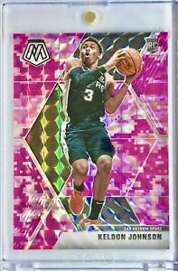 2019-20 Panini Prizm Mosaic Keldon Johnson Rookie Card RC Pink Camo Spurs 🔥📈