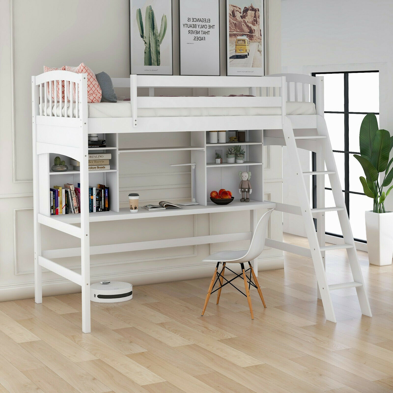 Picture of: Canwood Skyway Loft Bed With Desk And Storage Tower Twin Espresso For Sale Online Ebay