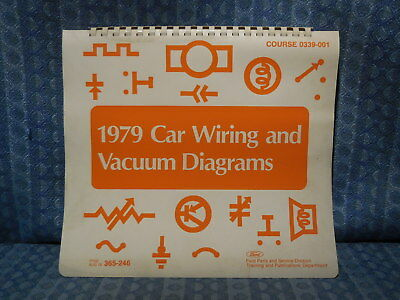 1979 Ford Lincoln Mercury OEM Wiring & Vacuum Diagrams ...