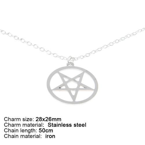 Inversé Pentagram Satanique Upside Down Pentagramme Collier Bracelet Boucle d/'oreille Cheville