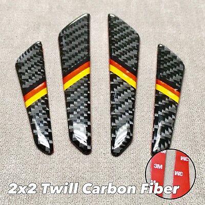 4pcs 2x2 Twill Real Carbon Fiber Door Edge Protection Guard Pad Trim Sticker M E