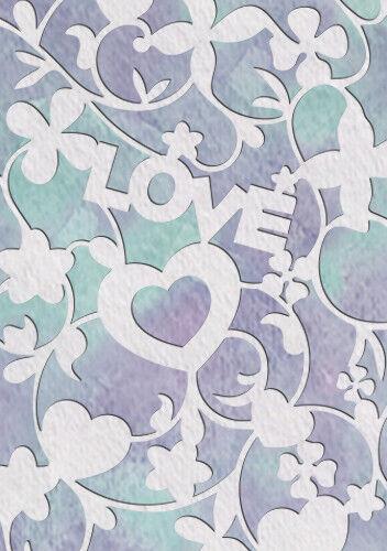 Love Heart Stencil Vintage Template Home Decor Card making Paint Crafts Fl119
