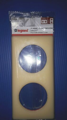 Plaque pamplemousse 2 postes Legrand celiane entraxe 71mm ref 99846