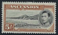 ASCENSION ISLAND :1938 GVI  definitive 5/-d  perf 13 1/2 SG 46 mint