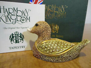Harmony Kingdom Tweed Duck Tapestry Series by David Winter UK Made Box Figurine