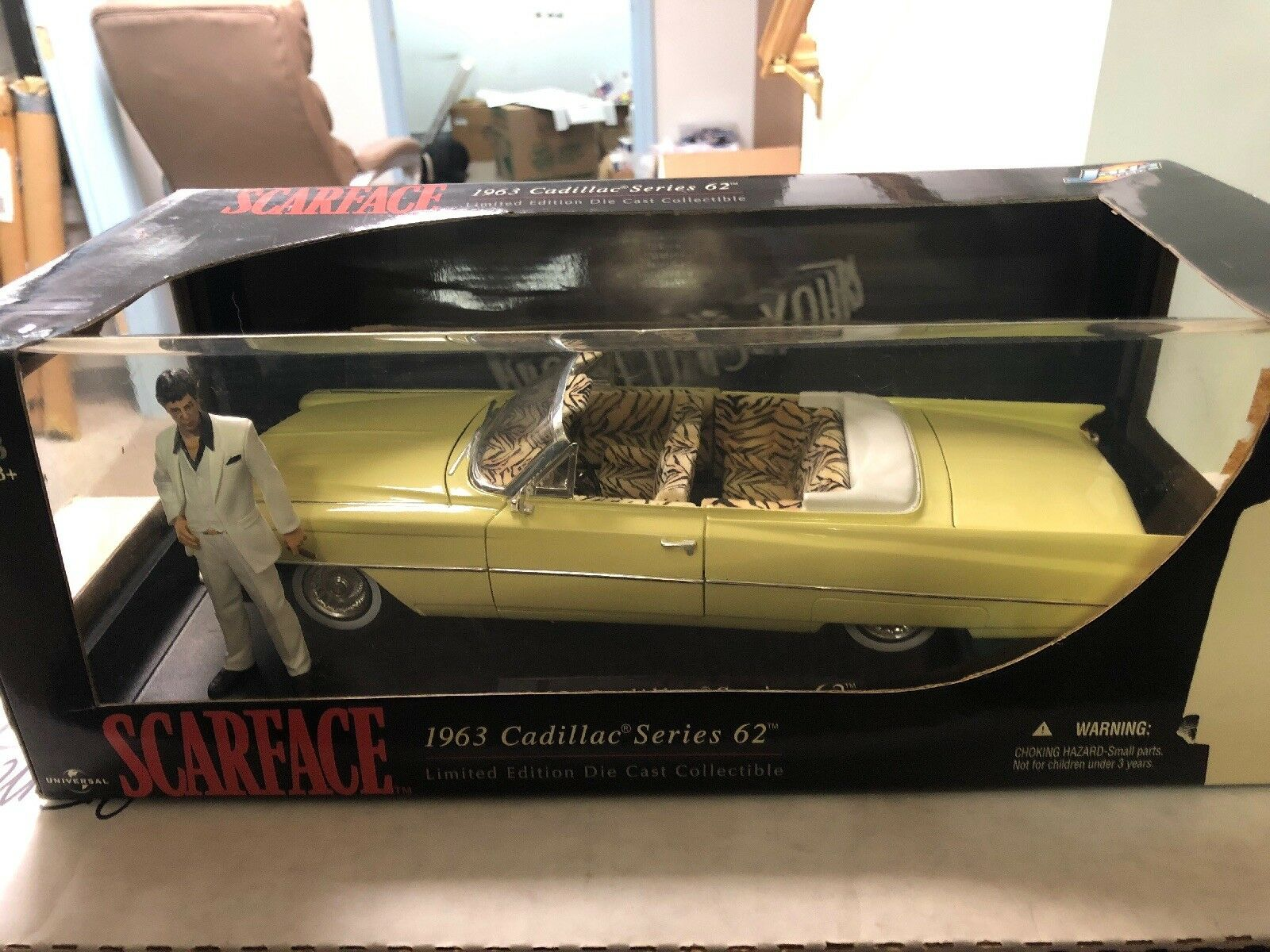 Scarface 1963 Cadillac Series 62 62 62 Limited Edition 1:18 Scale Die Cast NEW Jada 282500