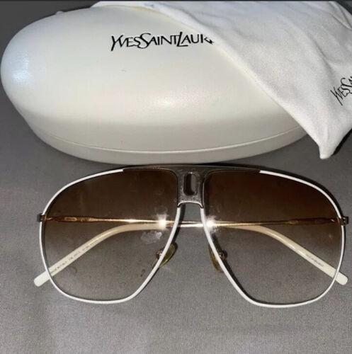 Ysl White Sunglasses
