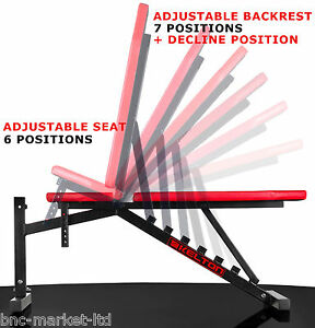 Folding Weight Bench Home Gym Exercise Lift Lifting