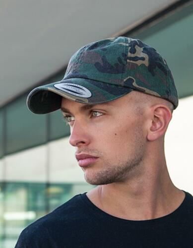 Low Profile Camo Washed Cap Extra flache FormFLEXFIT