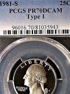 1981-S Washington Quarter Type 1 PCGS PR70DCAM