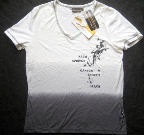 gris pour shirt avec blanc Canyon motif Sports T Femme Rq4j35AL